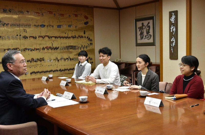 Homing第1期生の4名が、津山市長とミーティング!